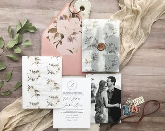 Neutral Pink Invitation