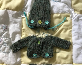 "9"" knitted elf outfit"