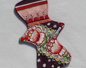 """Minky Topped. Reusable Modern Cloth Pad featuring a floral print  (29cm/11.5"""")"""