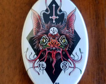 Bat Tattoo Demon Occult Magnet