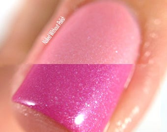 Pink Nail Polish - Color Changing Thermal Shimmer - Renegade Royalty from Crystal Knockout Storyteller Magic Collection (15mL Full Size)