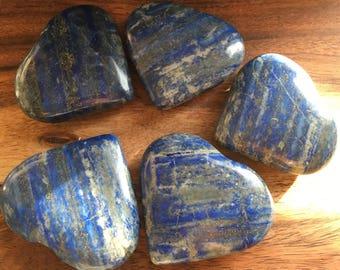 Beautiful Lapis Heart, Healing Stone, Healing Crystal, Spiritual Stone, Meditation,