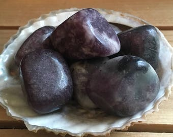 Lepidolite, Calming and Soothing Healing Stone,Large Tumbled Stone, Healing Crystal, Chakra Stone, Spiritual Stone