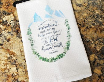 Tea Towel -  My Strength Comes From The Lord
