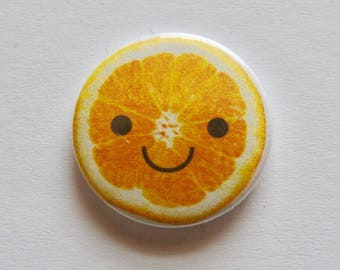 Happy Orange 25mm Pinbadge