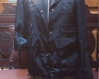 Banana Republic Shiny Black Jacket Size XS