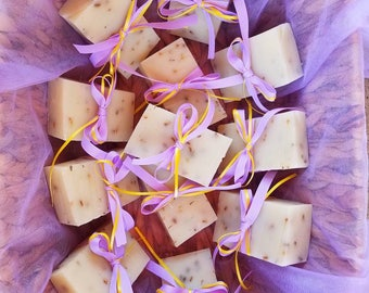 All natural lemon lavender soap