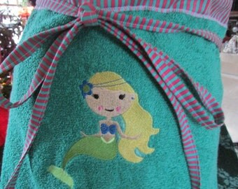Mermaid  tail  beach or bath  towel personalized for free