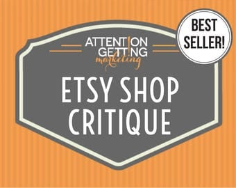 Etsy Shop Critique – BEST SELLER! Get a Personalized Written Critique of Your Etsy Shop with Actionable Tips, SEO Help & How to Sell on Etsy