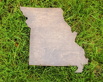 Missouri Wall Art, Wooden Missouri Map, Missouri Map Outline, Missouri Map Art, Missouri State Cutout, Missouri Wedding Guestbook