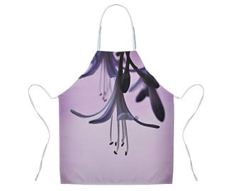 Purple Apron, Floral Apron, Nature Photo Apron, Gift for Chef, Apron for Women, Purple Flower Apron, Unique Hostess Gift, Kitchen Apron