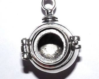 Ball window that opens to wear cabochon charm scuba diver 11 mm X 1.1 cm for jewelry making