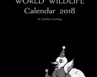World Wildlife 2018 A3 Calendar