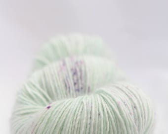 Hand-dyed yarn - sock yarn - superwash - merino - speckles - dyed-to-order - LIGHT
