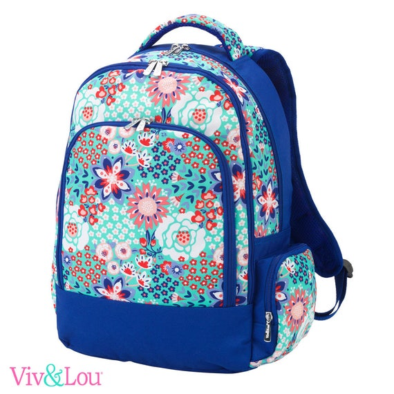 flower garden party backpack parker paisley bookbag embroidered bookbag paisley backpack back to school girls backpack monogrammed backpack