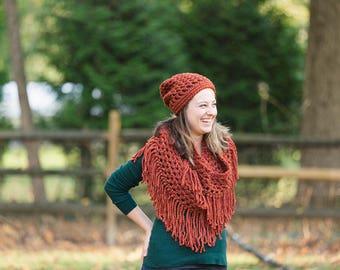 Crochet Slouchy Hat - slouchy hat - crochet hat - womens hat - fall accessory - slouch hat - crochet slouch hat