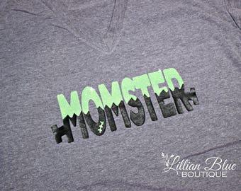 Momster Halloween Shirt Adult