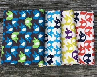 Elephants Fat Quarter Bundle- Japanese Oxford Cotton - Kokka Trefle
