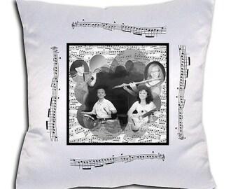 theme music cushion customize with photo