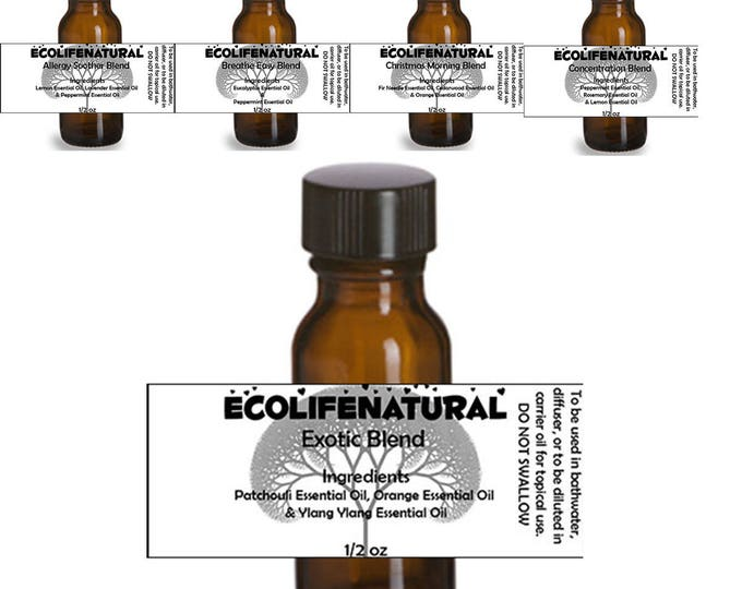 Featured listing image: SALE  1/2 oz Essential Oil blends for Aromatherapy, bathwater or to be diluted in carrier oil for topical use.