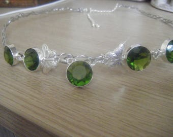 Hair circlet/tiara made with semi precious stones