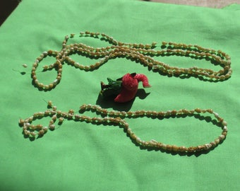 Lot Of Broken Seashell Necklaces Plus Broken Pink Flamingo