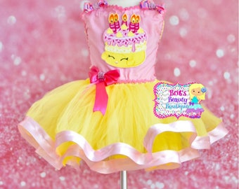 Inspired by Shopkins Wishes Birthday Cake Tutu Dress/Birthday Dress/Birthday Tutu/Pageant Wear/Photography Prop/Halloween Costume/Shopkins