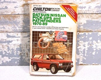 Car repair manual etsy chiltons datsonnissan pick ups and pathfinders repairtune up guide 1970 solutioingenieria Gallery