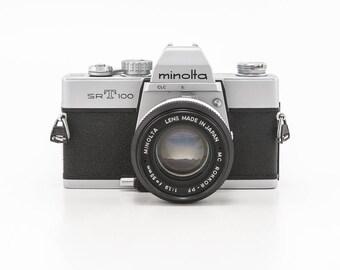 Minolta SRT100 - 35mm Manual Film Photography Camera with 55mm Prime Lens