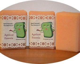 Apricot Freesia ~ Homemade Lye Soap