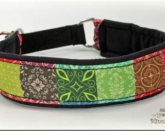 "Dog collar ""Patchwork"", Martingale, multicolor"