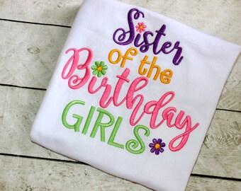Big Sister shirt Big sister birthday shirt Rainbow cupcake big sister shirt Birthday shirt for girls Size 2t 3t 4t 5 6 8 10 12 month