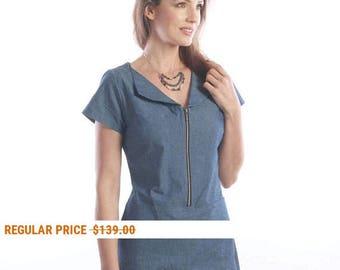 Denim Blue Summer dress - business casual dresses