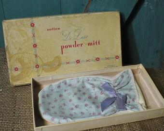 Vintage Bath Powder Mitt by Sutton Cosmetics