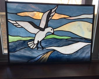 Handmade stained glass (birds)