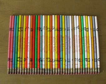 Vintage Presidential Pencils- collectible- historical- man cave- mid century wood pencils- political memorbilia- 37 pencils- display- 1960s