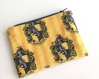 Hufflepuff Coin Purse, Credit Card Pouch, Coin Pouch