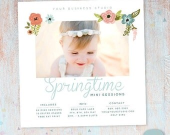 ON SALE Spring Marketing Board Mini Session - Photoshop template - IE015 - Instant Download