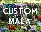 Reserved for Emily *Open Heart Warrior Mala With Your Intentions / Eco-Friendly Jewelry