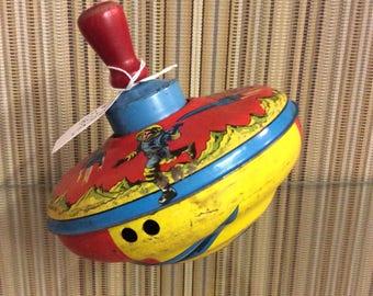 Vintage Metal Top, Rocketman,old Toy, Retro Spaceman, Vintage Toys