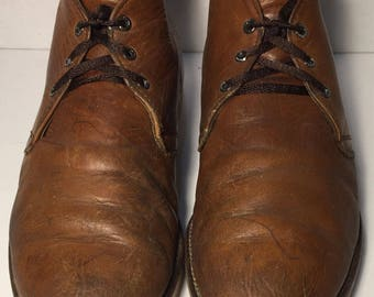Red Wing® 595 Heritage Work Chukka Brown Leather Work boots Men's Size 9.5 C (Narrow Width)