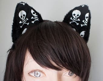 Skull Cat Cosplay Ears