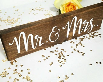 Mr. & Mrs. Head Table Sign