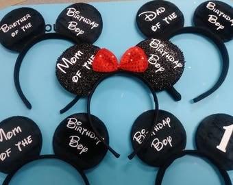 Personalized Minnie or Mickey Ears (Headband)