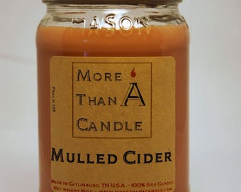 16 oz Mulled Cider Soy Candle