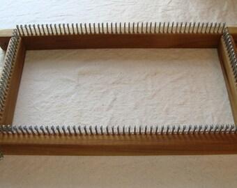 "SALE -- 12"" Knitting Board / Long Loom  -- Fine Gauge - With Peg Extenders - Cottage Looms"