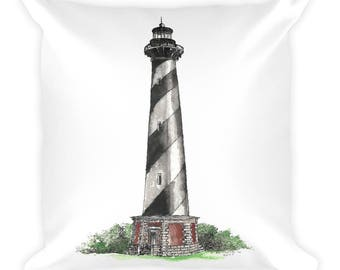 Cape Hatteras Lighthouse Square Pillow