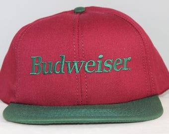 Vintage Budweiser Beer Snapback Hat
