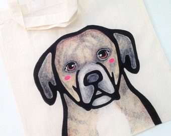 Full Detail Custom Pet Tote - Custom Dog Portrait - Personalized Dog Tote Bag - Pet Moms - Gift for Pet Lovers