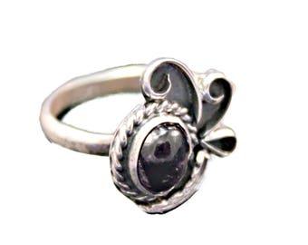 Sterling Silver Ring Amethyst Gemstone